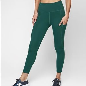 Athleta Up for Anything Capri Teal Legging
